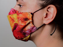 Load image into Gallery viewer, Triple Layer Face Mask - Rose Print