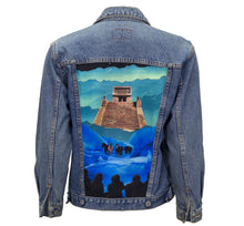 Load image into Gallery viewer, Way Up in the Sky Upcycled Denim Jacket