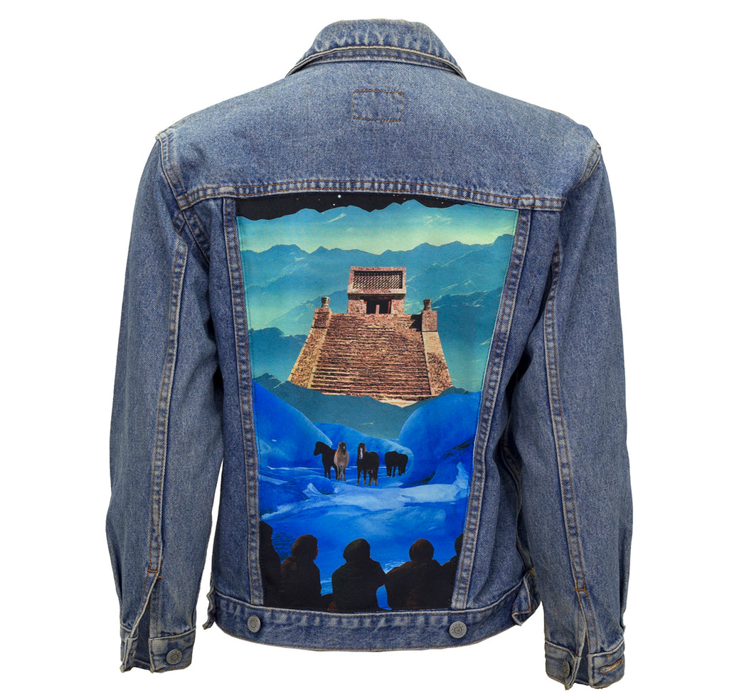 Way Up in the Sky Upcycled Denim Jacket