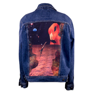 Upcycled Denim Jacket Collage art Sydney design Marrickville digital print