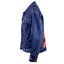 Load image into Gallery viewer, Swim Good Upcycled Denim Jacket L
