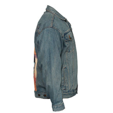 Load image into Gallery viewer, Where Do We Go From Here Upcycled Denim Jacket L-XL