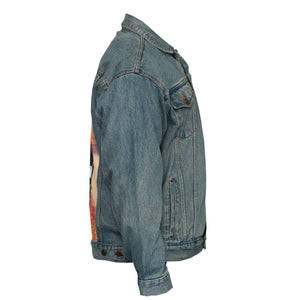 Where Do We Go From Here Upcycled Denim Jacket L-XL