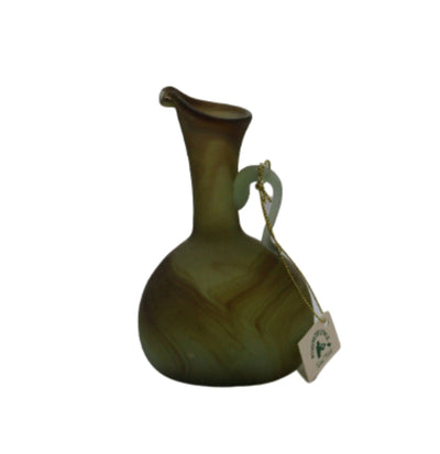 Green small glass Pitcher Hebron Glass Phoenician