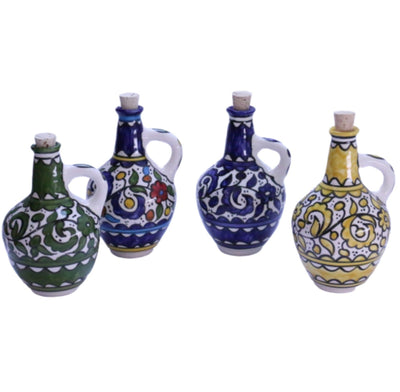 Ceramic Decanter with Cork Stopper Oil and Vinegar Cruet