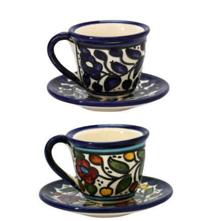 Hand painted Floral Ceramic Coffee Mug Hebron Ceramic