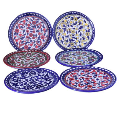 palestinian Floral Ceramic Serving Plate