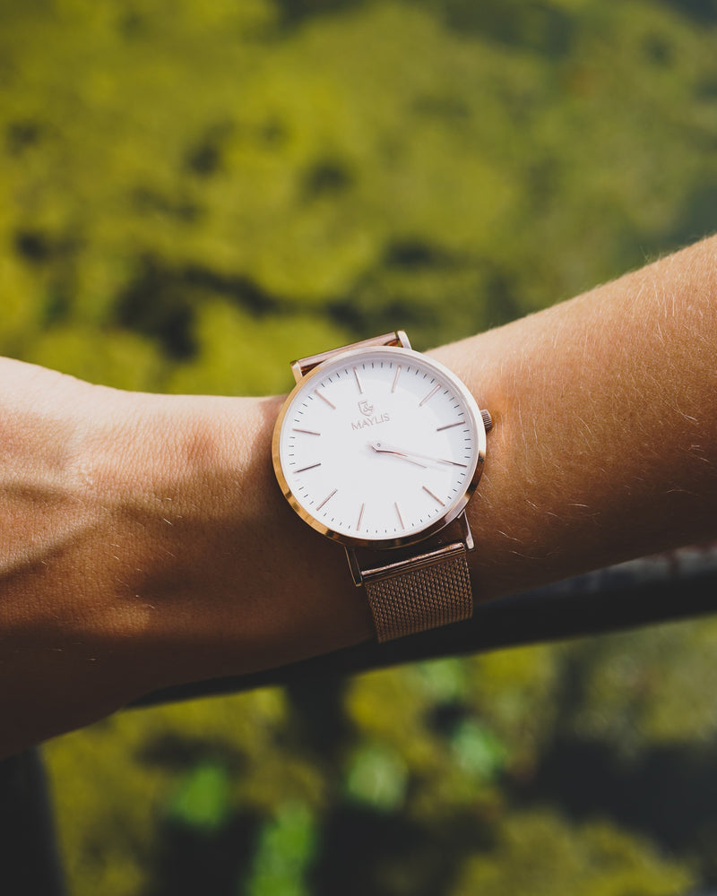 Barclay 36mm Rose Gold Metal strap