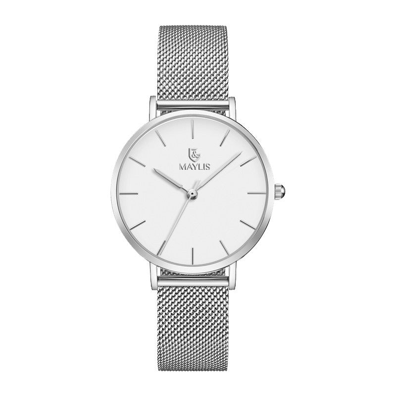 Classic Silver 32mm Metal Strap