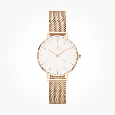 Classic Gold Black 32mm Metal Strap