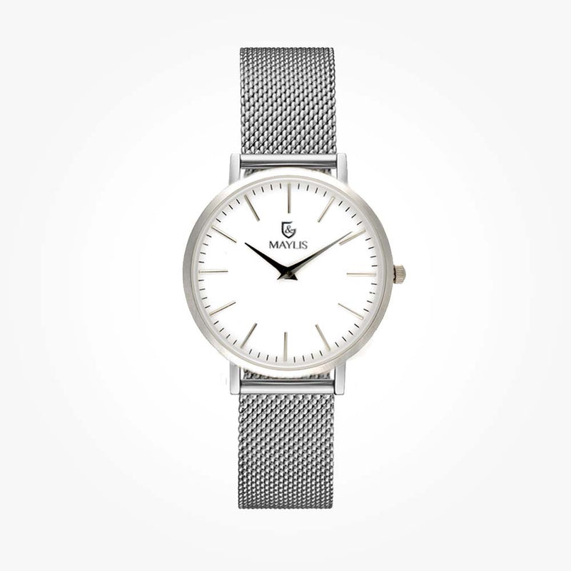 Barclay Silver 36mm Metal Strap