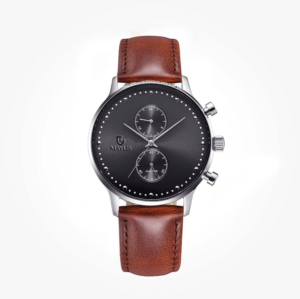 Crono Grove 42mm Brown Leather strap