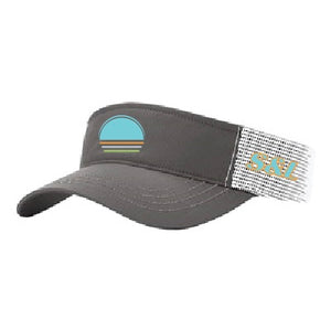Solar Trucker Visor - Teal / Charcoal / White