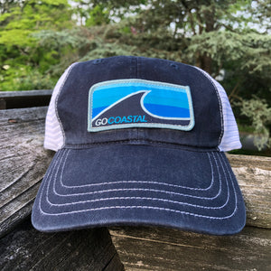 Sol Wave Trucker (Relaxed) - Aqua / Navy / White