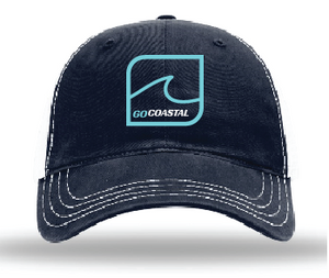 One Wave Relaxed Trucker - Teal / Navy / White
