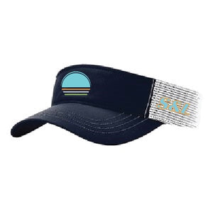 Solar Trucker Visor - Teal / Navy / White