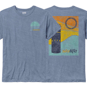 Watch Tower Tee / Heather Sky Blue