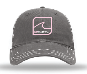One Wave Relaxed Trucker - Pink / Charcoal / White