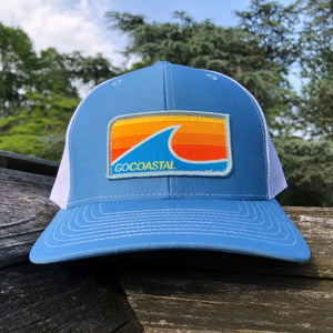 Sol Wave Trucker - Orange / Sky / White
