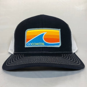 Sol Wave Trucker - Orange / Navy / White
