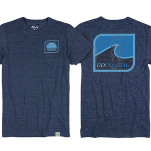 One Wave Tee / Heather Navy