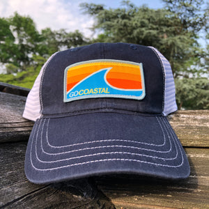 Sol Wave Trucker (Relaxed) - Orange / Navy / White