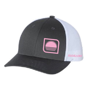 Solar Trucker - Pink / Charcoal / White