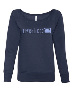 Reho Scoop Neck Sweatshirt / Navy