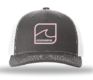 One Wave Trucker - Pink / Charcoal / White
