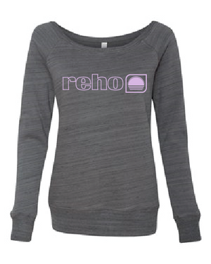 Reho Scoop Neck Sweatshirt / Dark Grey Marble