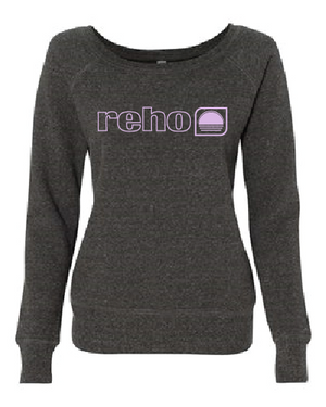 Reho Scoop Neck Sweatshirt / Charcoal Tri-blend
