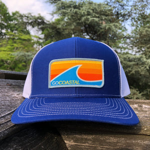 Sol Wave Trucker - Orange / Royal / White