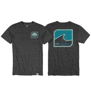 One Wave Tee / Heather Black