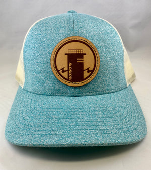 Tower One Trucker - Heather Teal / Birch