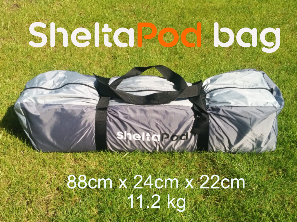SheltaPod is an awning that works not only with campervans but with any vehicle. It can be used as a simple sun canopy, shelter, 4 person sleeping tent and driveaway awning. The ideal family tent for camping, small pack size and lightweight.