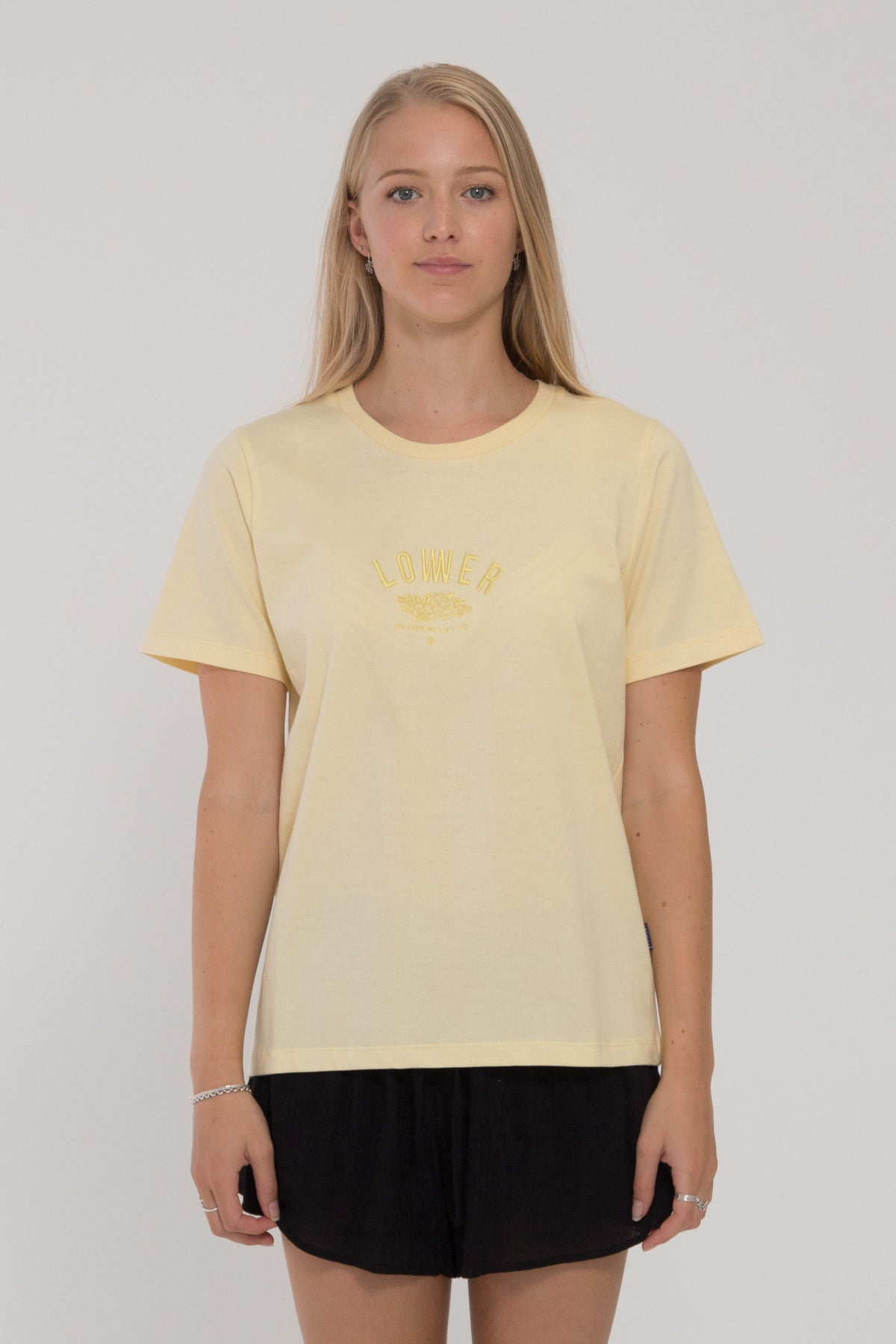 Posey Active Tee - Pale Yellow