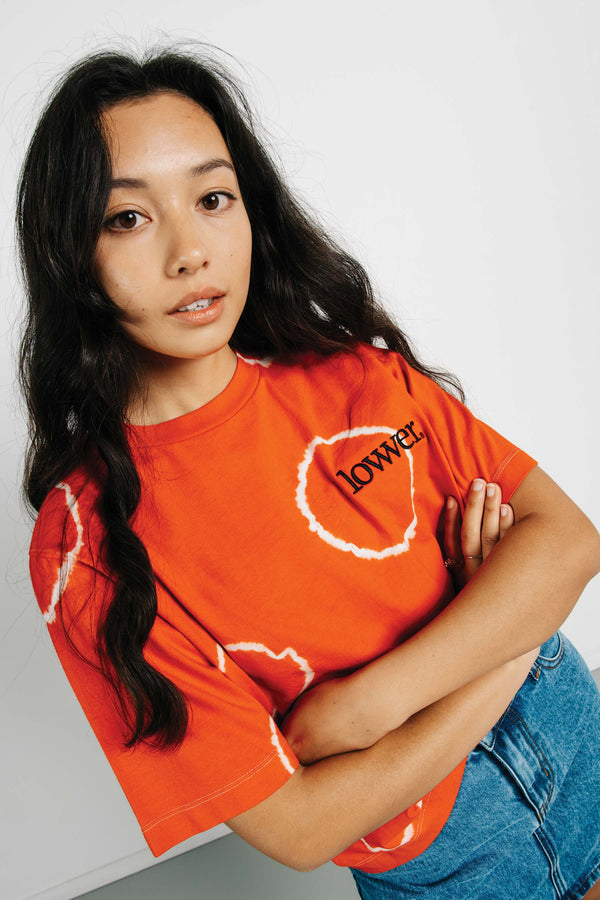 Area Tee - Applebox - Orange Tye Dye