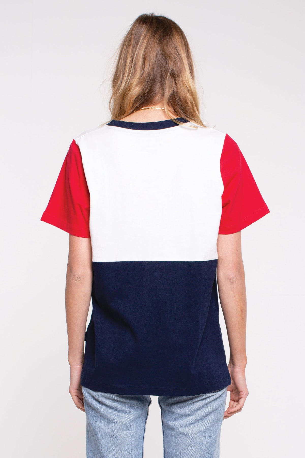 Active Panel Tee - Crest White/Red/Blue