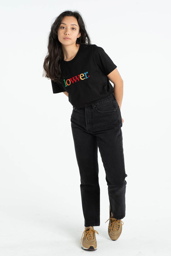 Womens Active Tee - Applebox - Black