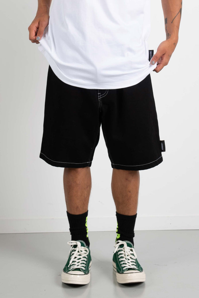 Mens Adios Short - Applebox - Black/White Contrast Stitiching