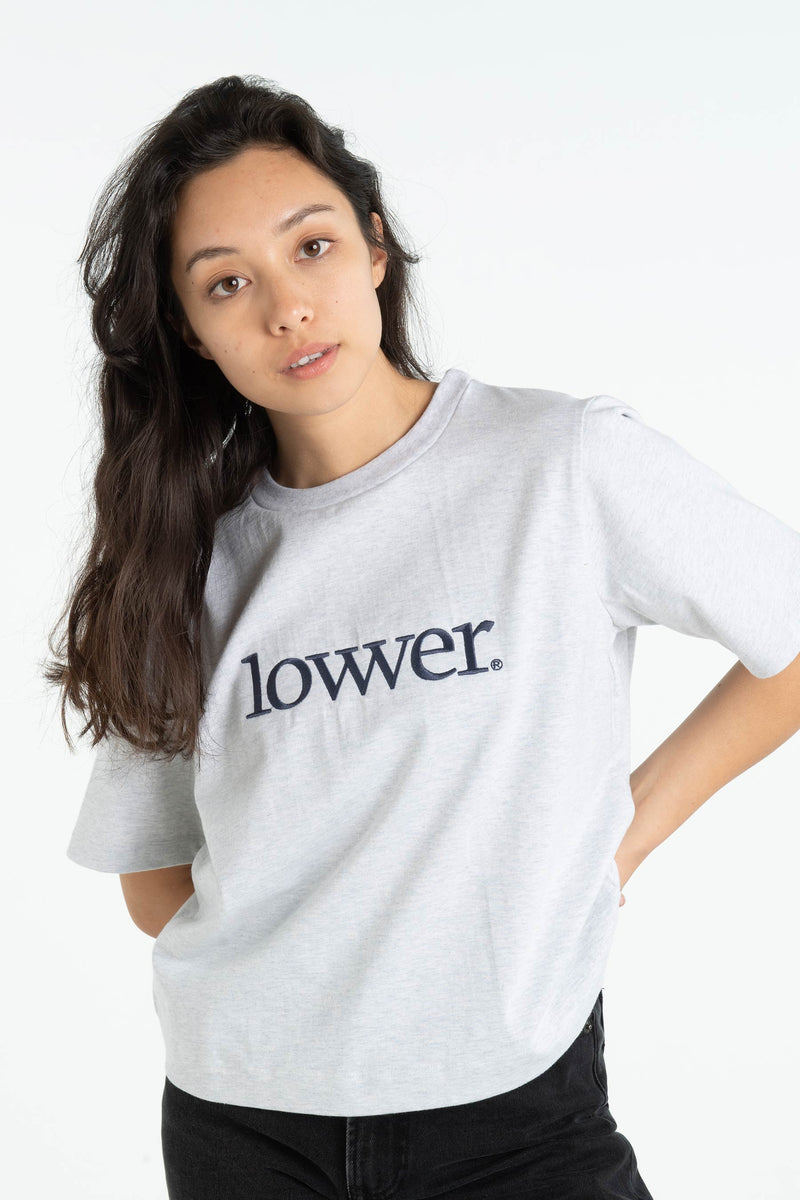 Womens Area Tee - Applebox - Silver Marle