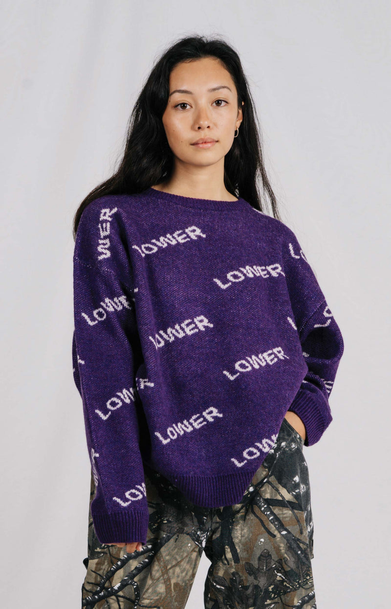 Baley Knit - Purple/White