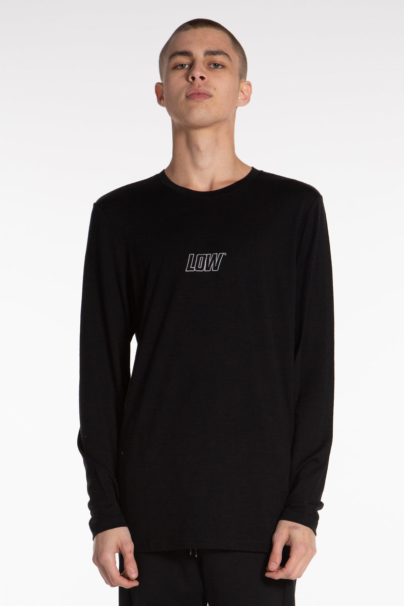 Low Giants Base Layer LS Tee - Black