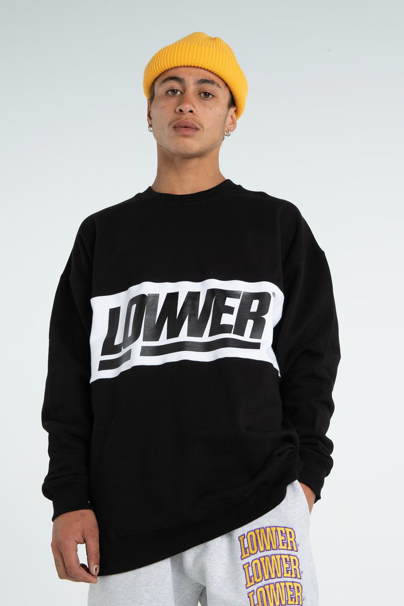 Mens BD Panel Crew - Giants - Black/White