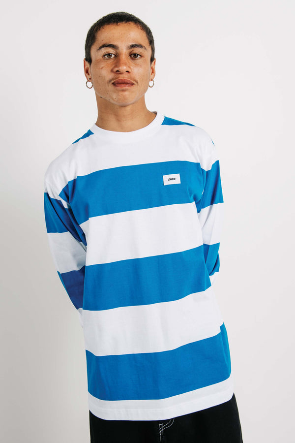 Block L/S Tee - Funtura - Blue/White