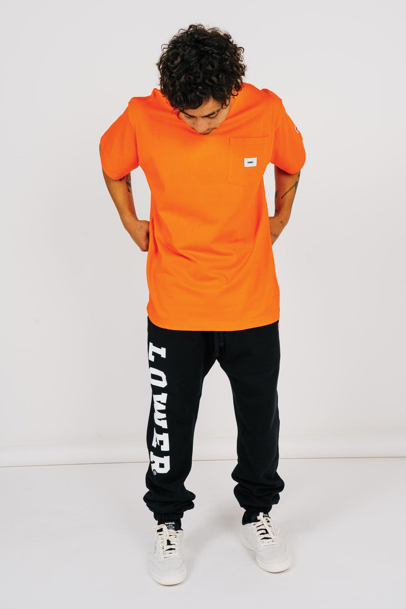 Mens Block Pocket Tee - Orange