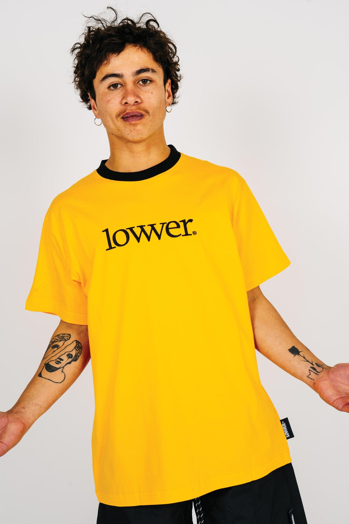 Mens Block Tee - Applebox - Gold (w/black rib)