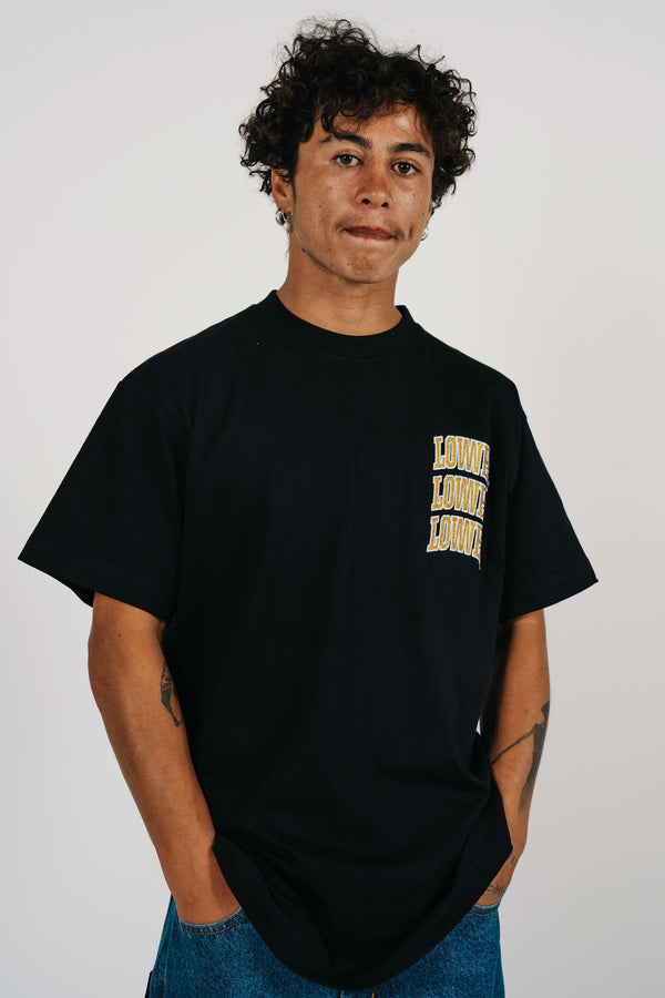 Block Tee - Arch Stack - Black