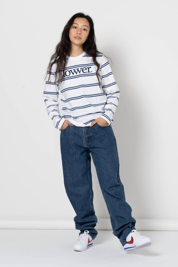Womens Classic L/S Tee - Applebox -Stripe