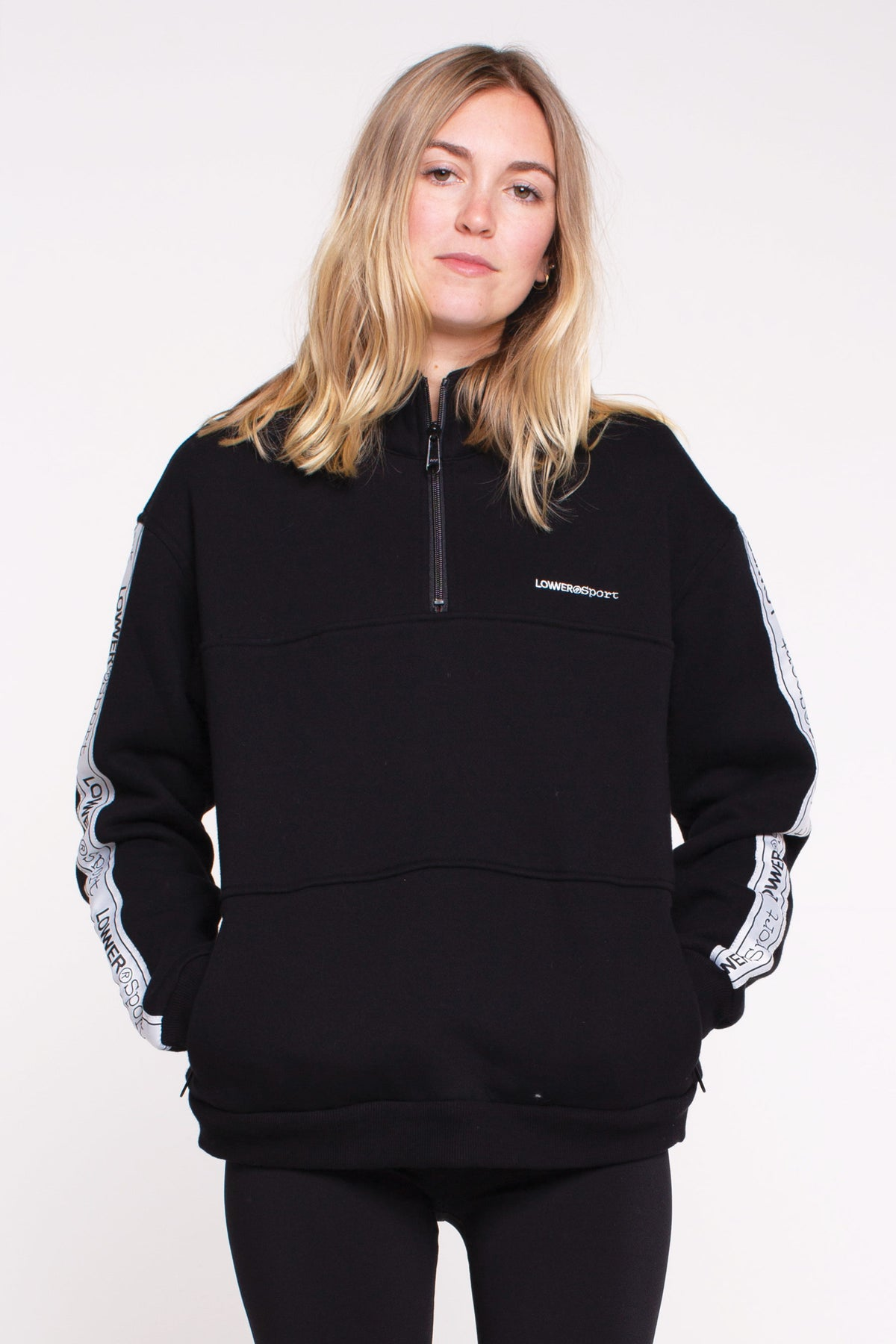 Break Away Zip Crew - Black